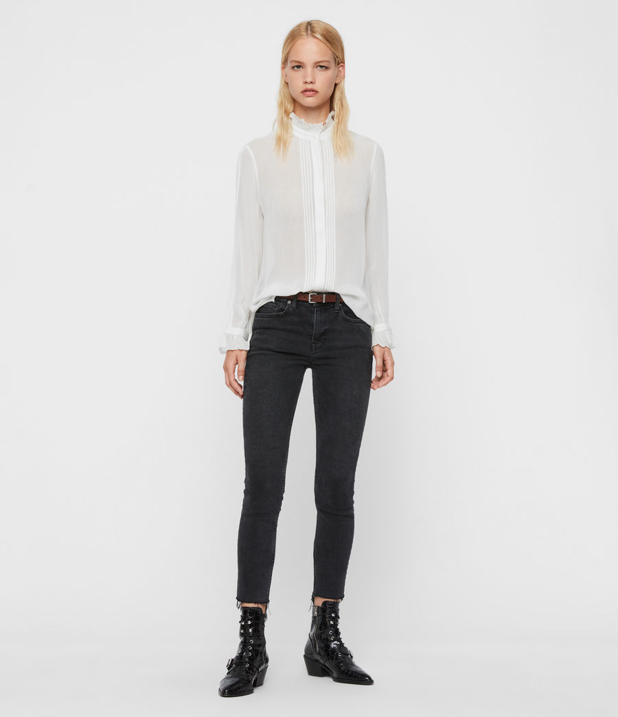 Womens Louise Shirt (chalk_white) - Image 4