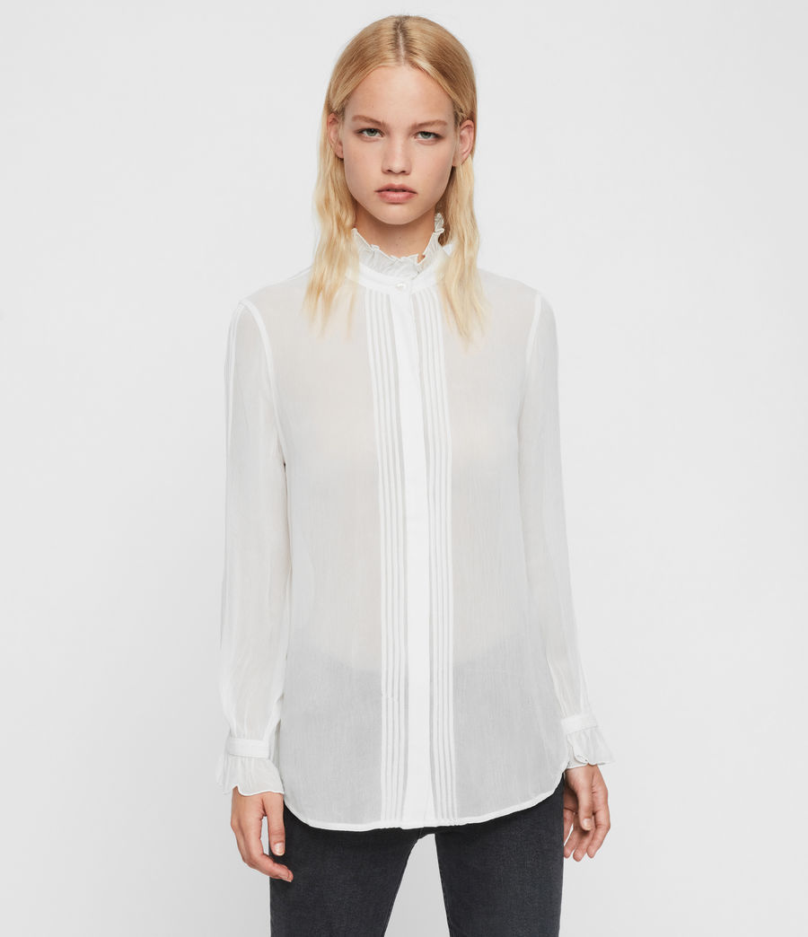 Womens Louise Shirt (chalk_white) - Image 5