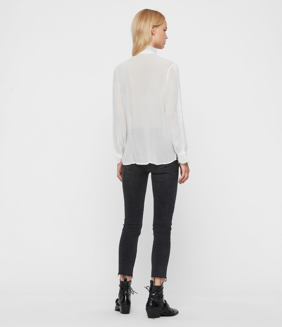 Womens Louise Shirt (chalk_white) - Image 6