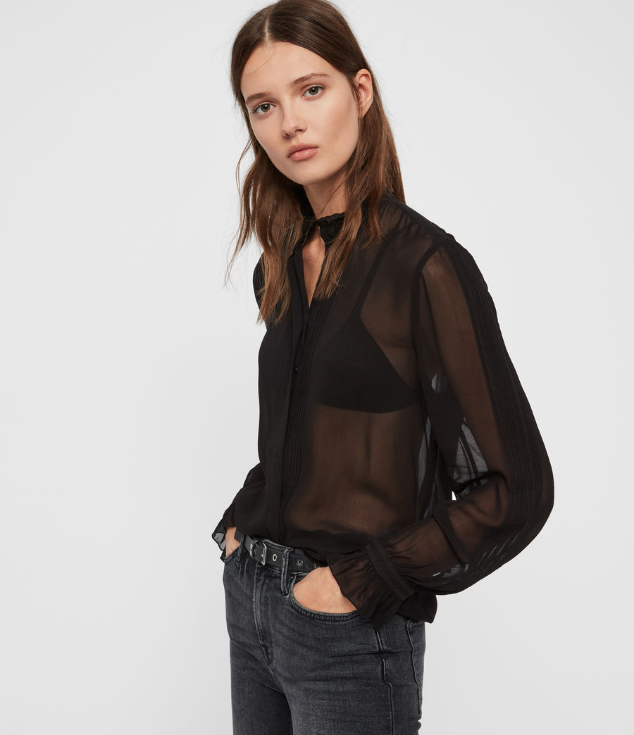 Women's Louise Shirt (black) - Image 1