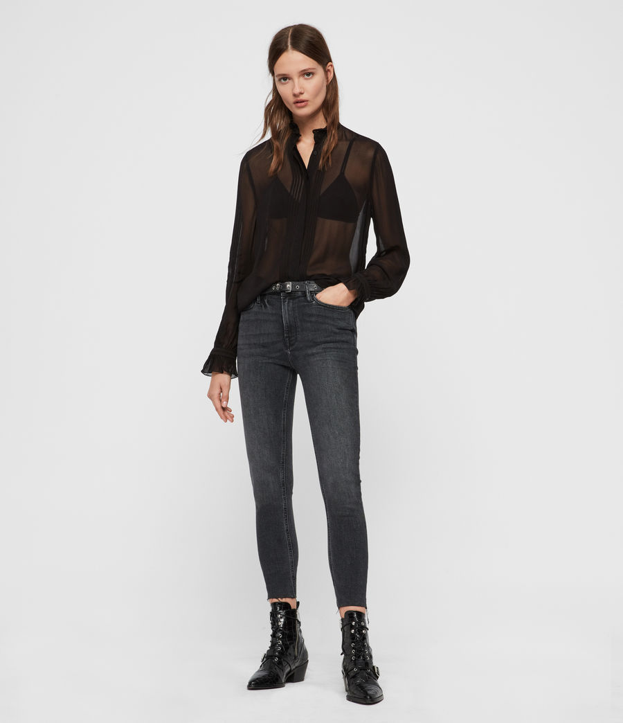 Women's Louise Shirt (black) - Image 3