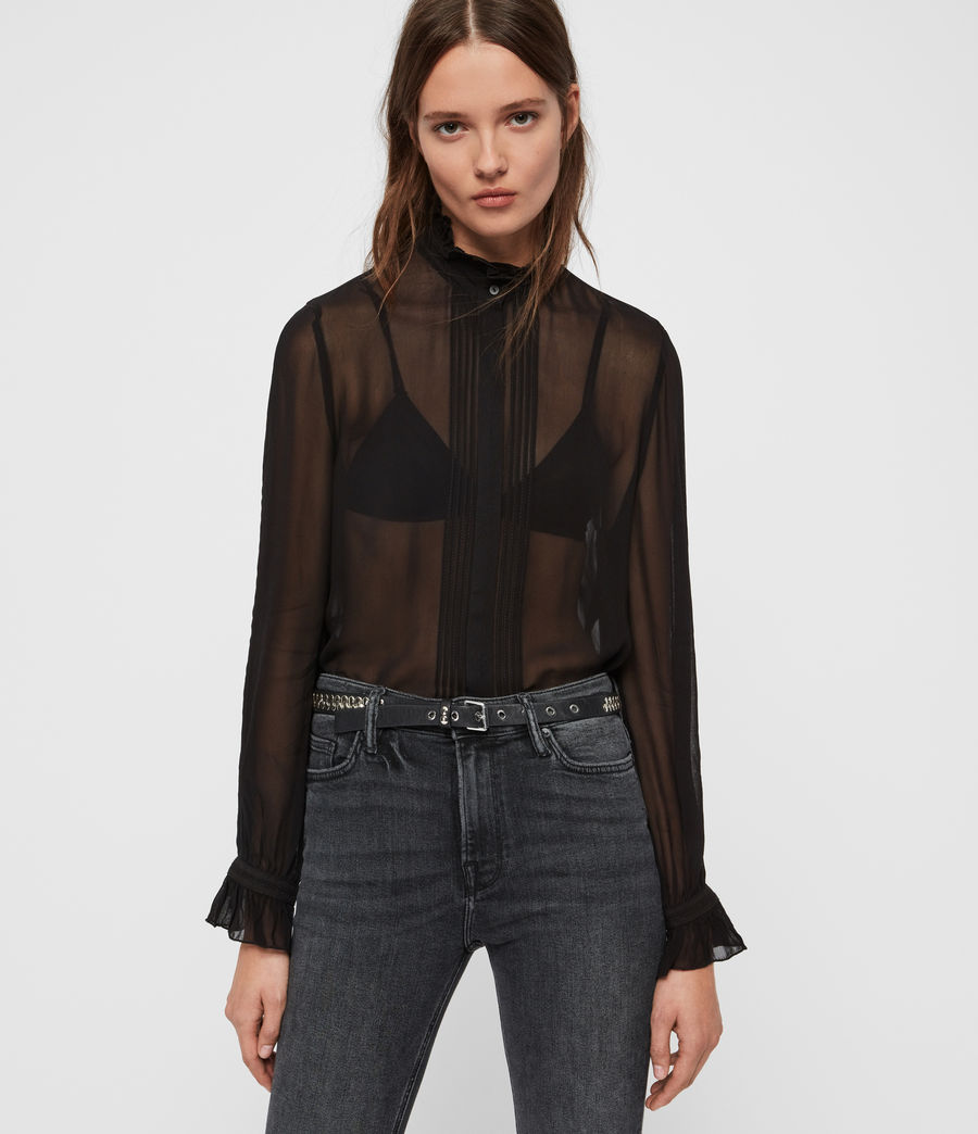 Women's Louise Shirt (black) - Image 4
