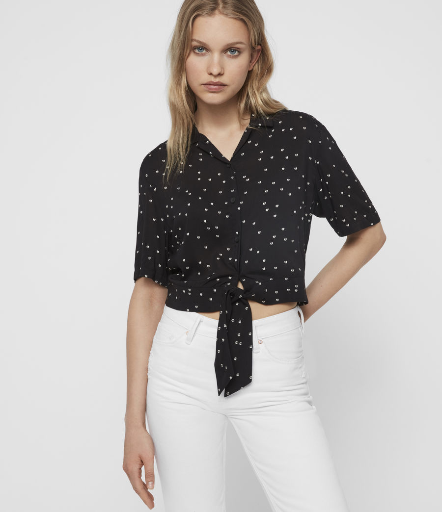 Women's Leni Hearts Shirt (black) - Image 1