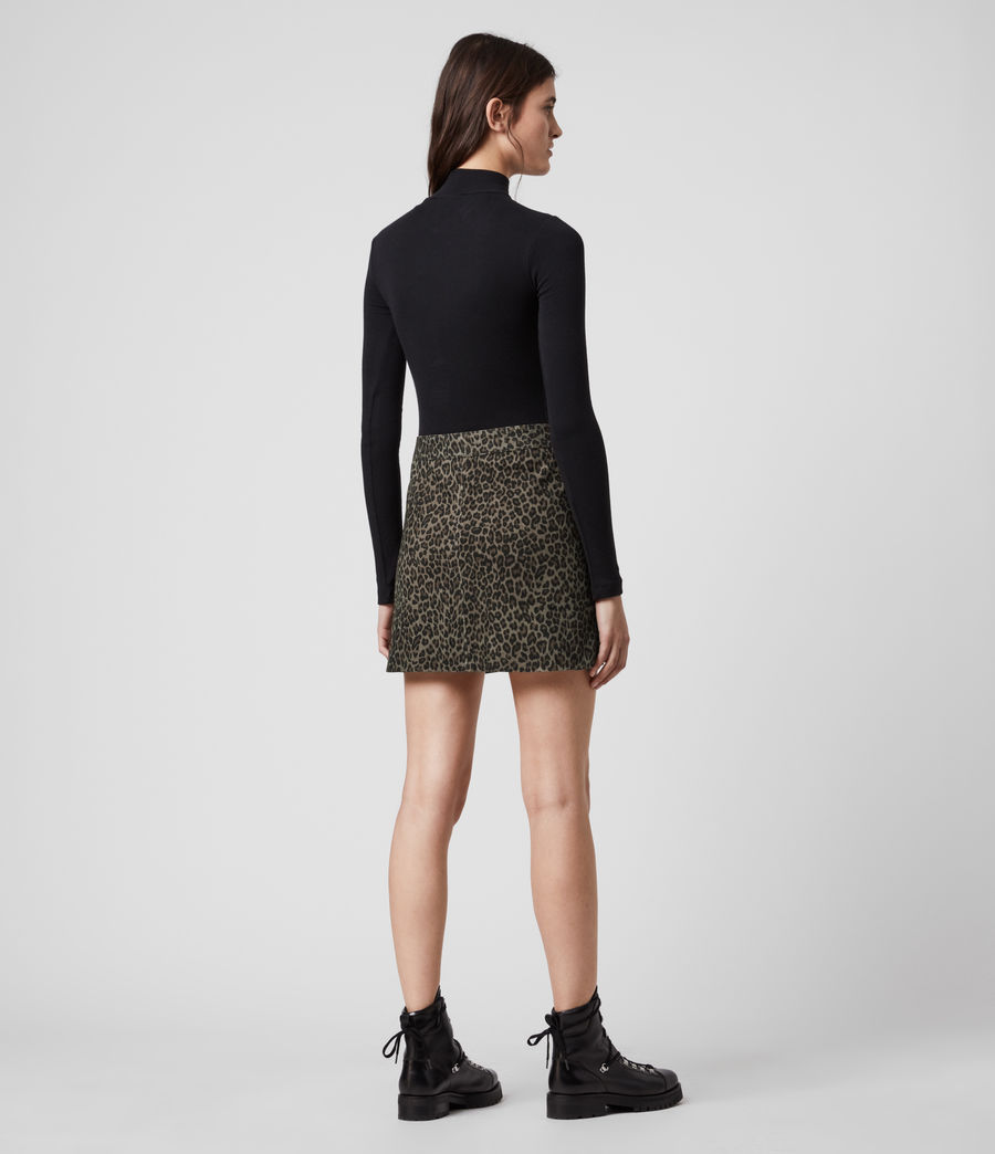 Mujer Lena Leo Suede Skirt (leopard_brown) - Image 5