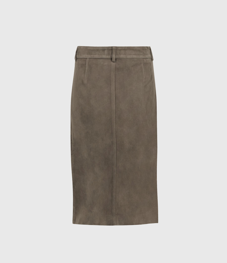 Women's Lorel Suede Midi Skirt (gravel_grey) - Image 2