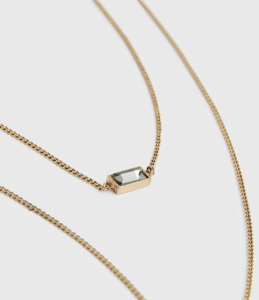 Womens Lyric Gold-Tone Double Layer Necklace (warm_brass) - Image 1