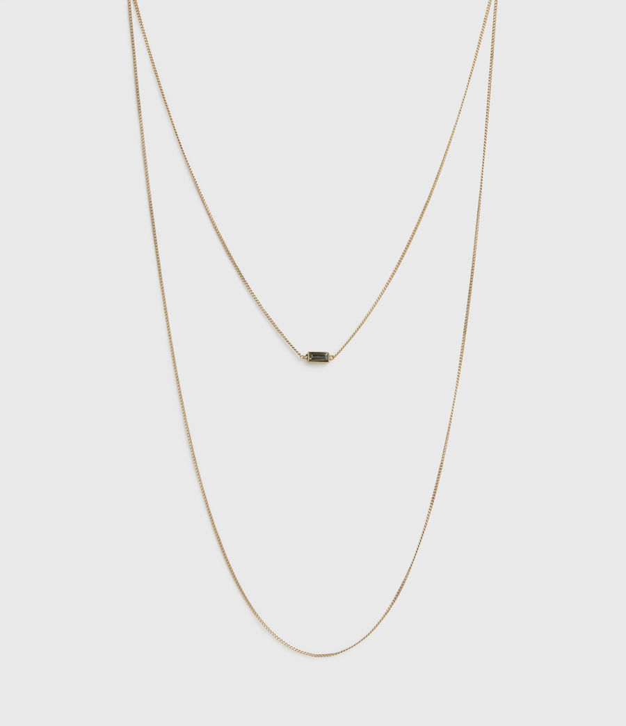 Womens Lyric Gold-Tone Double Layer Necklace (warm_brass) - Image 2