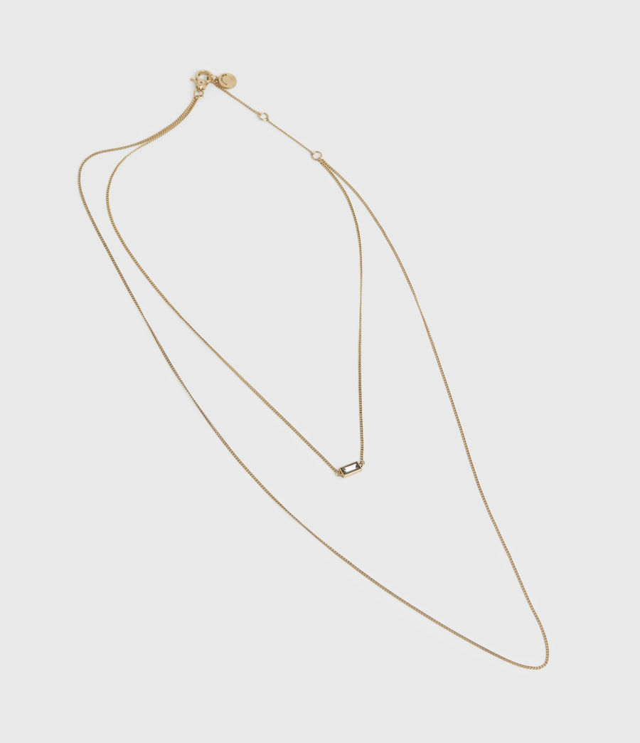 Womens Lyric Gold-Tone Double Layer Necklace (warm_brass) - Image 3