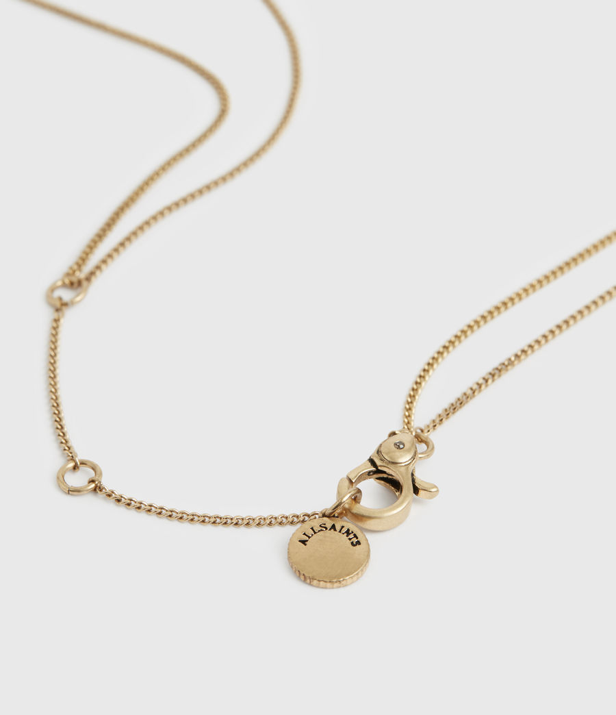 Womens Lyric Gold-Tone Double Layer Necklace (warm_brass) - Image 4