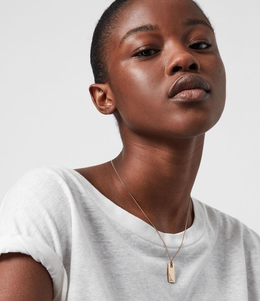 Women's Pave Gold-Tone Zip Pendant Necklace (black_warm_brass) - Image 1