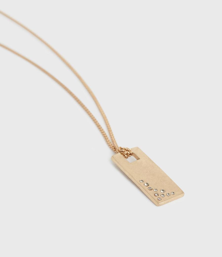 Women's Pave Gold-Tone Zip Pendant Necklace (black_warm_brass) - Image 2