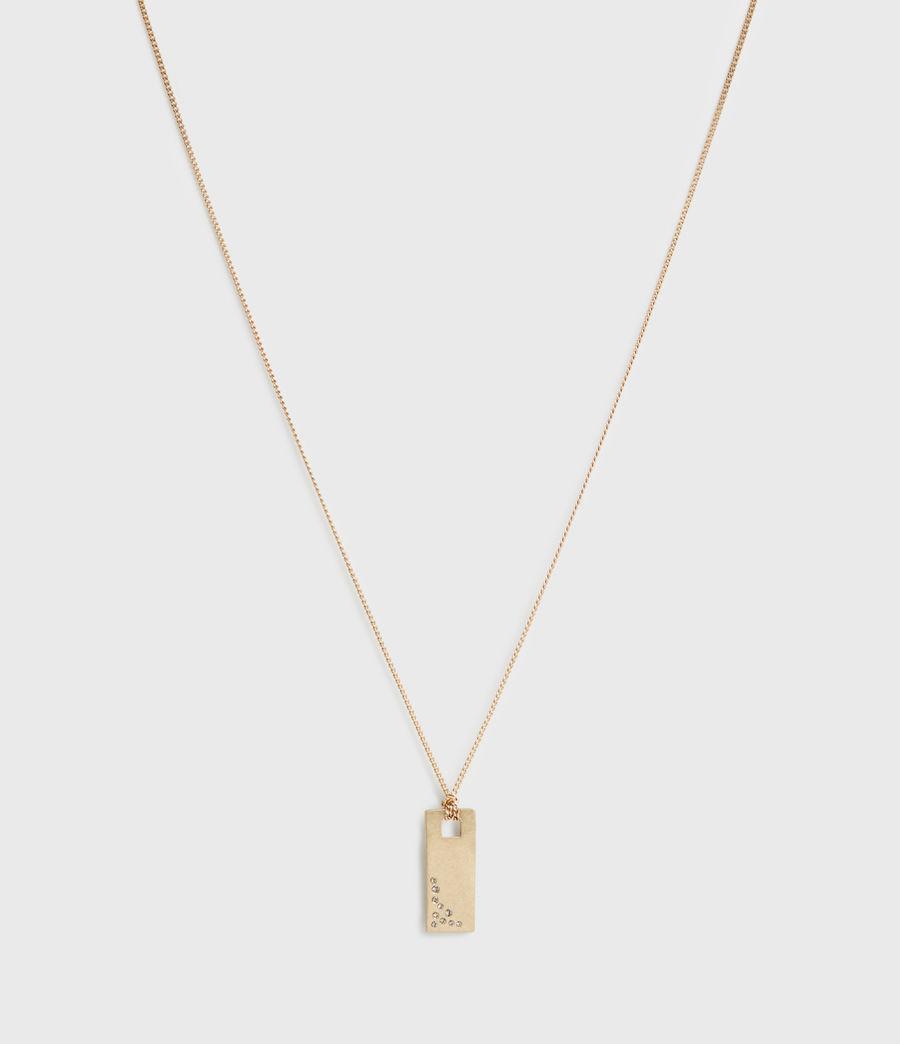 Women's Pave Gold-Tone Zip Pendant Necklace (black_warm_brass) - Image 3