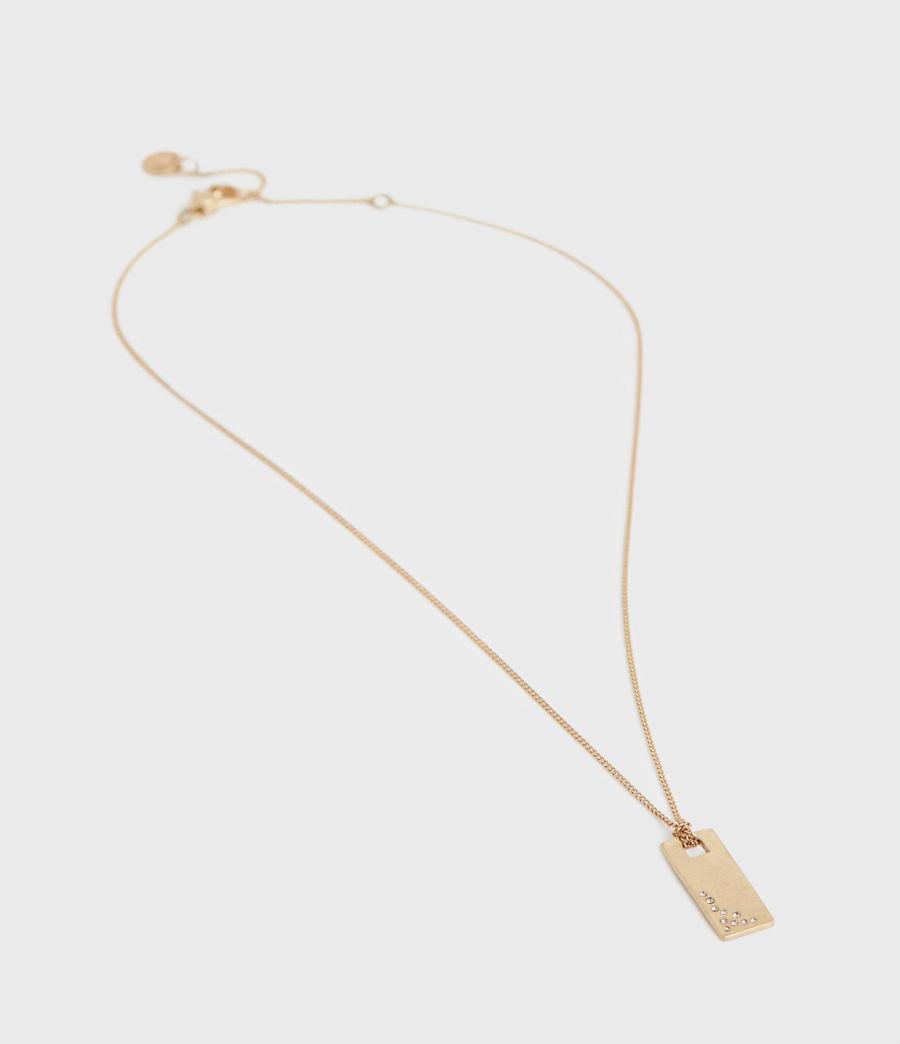 Women's Pave Gold-Tone Zip Pendant Necklace (black_warm_brass) - Image 4