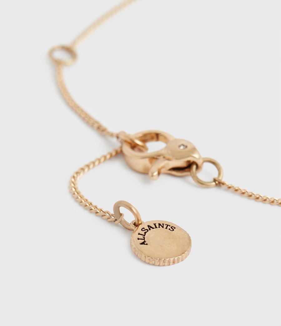 Women's Pave Gold-Tone Zip Pendant Necklace (black_warm_brass) - Image 5