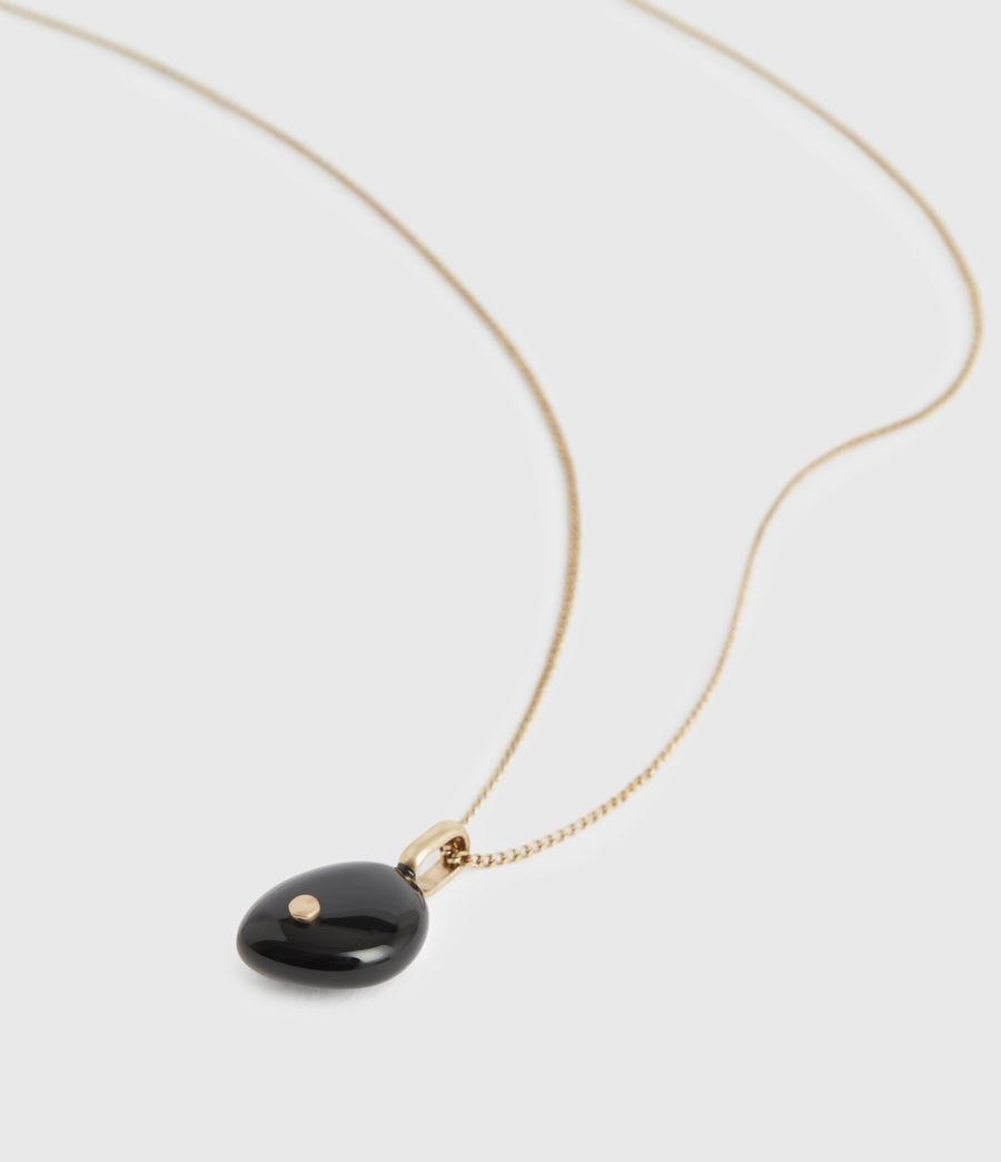 Women's Stone Gold-Tone Pendant Necklace (black_warm_brass) - Image 1