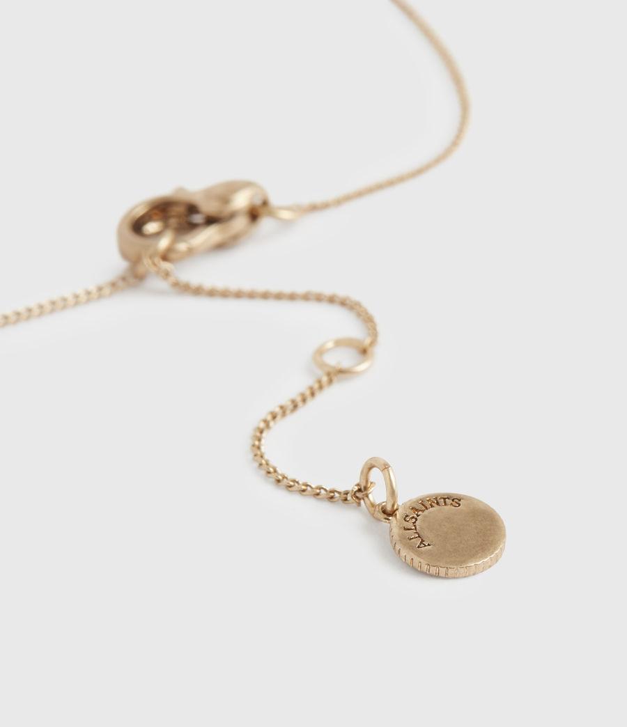 Women's Stone Gold-Tone Pendant Necklace (black_warm_brass) - Image 5