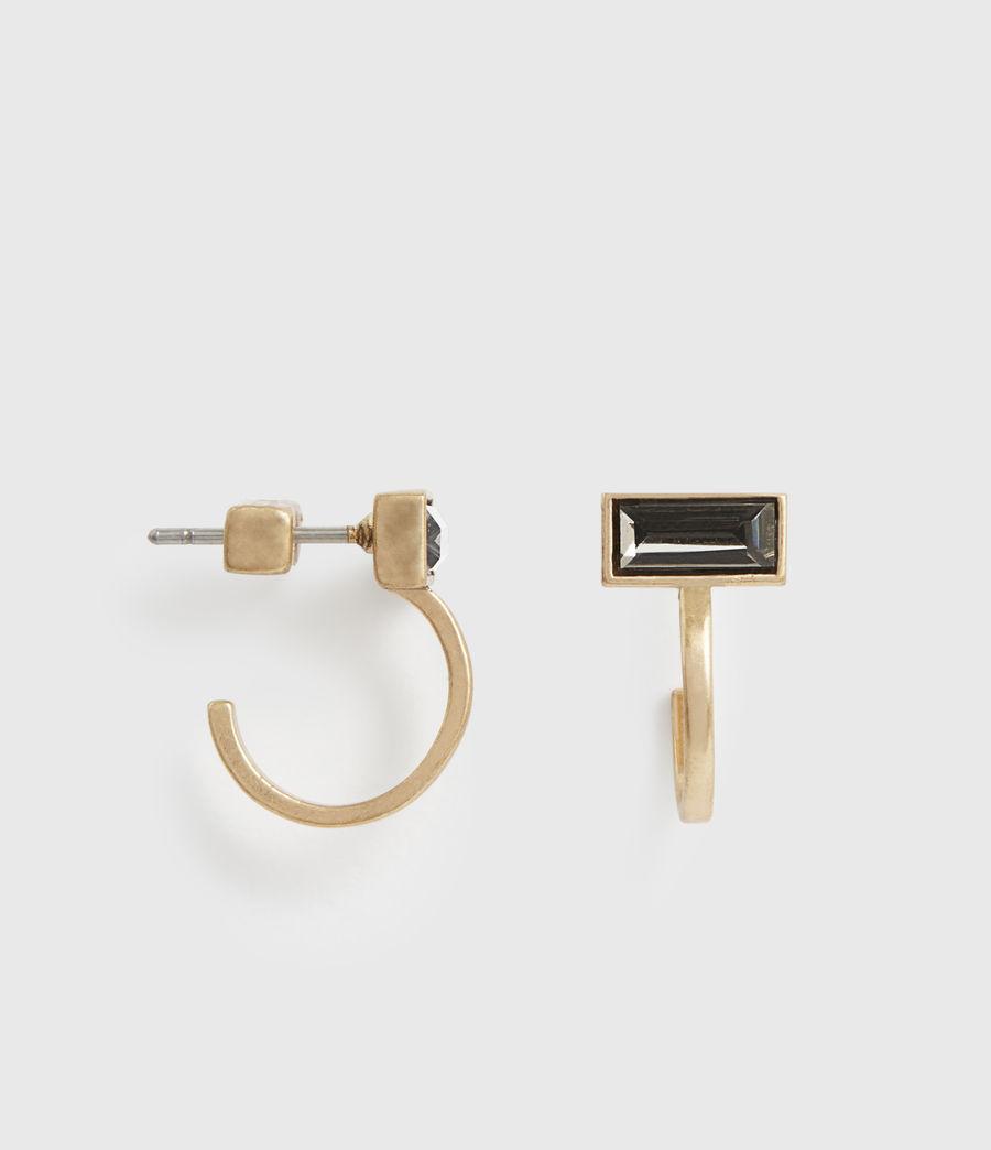 Womens Noa Gold-Tone Hoop Earrings (warm_brass) - Image 1
