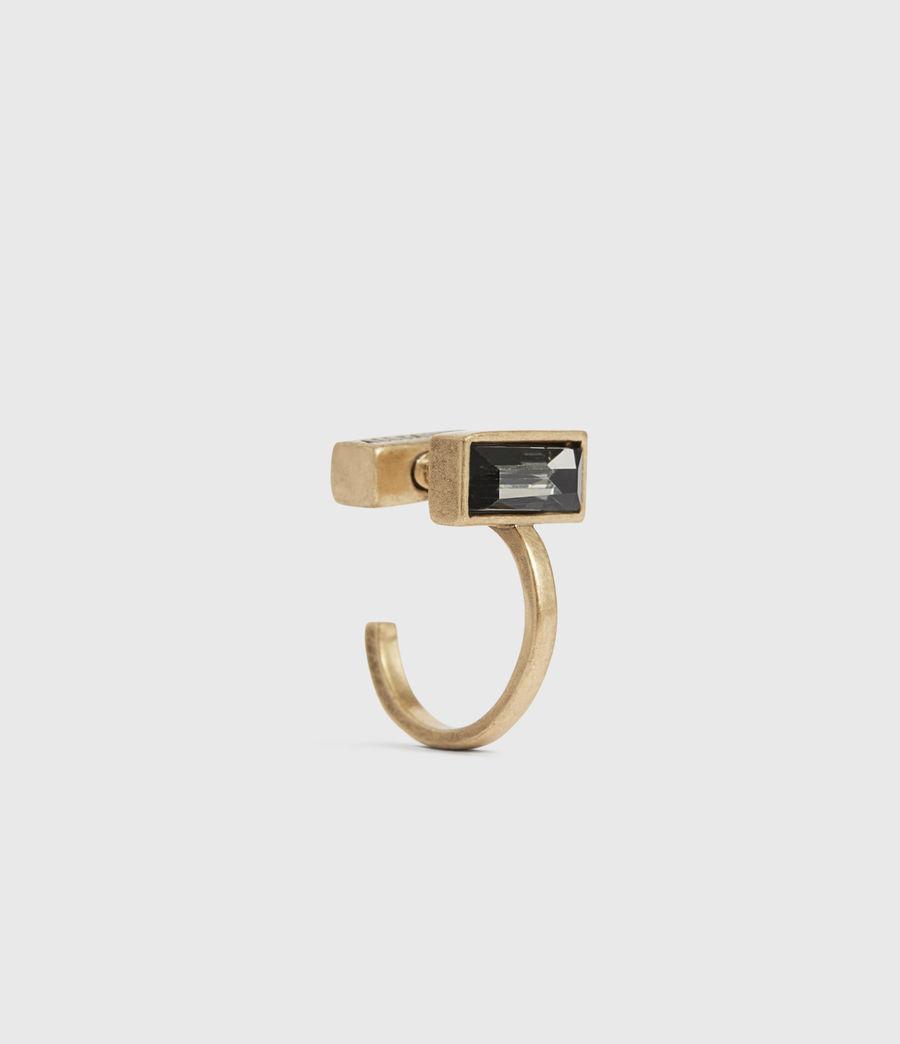 Womens Noa Gold-Tone Hoop Earrings (warm_brass) - Image 2