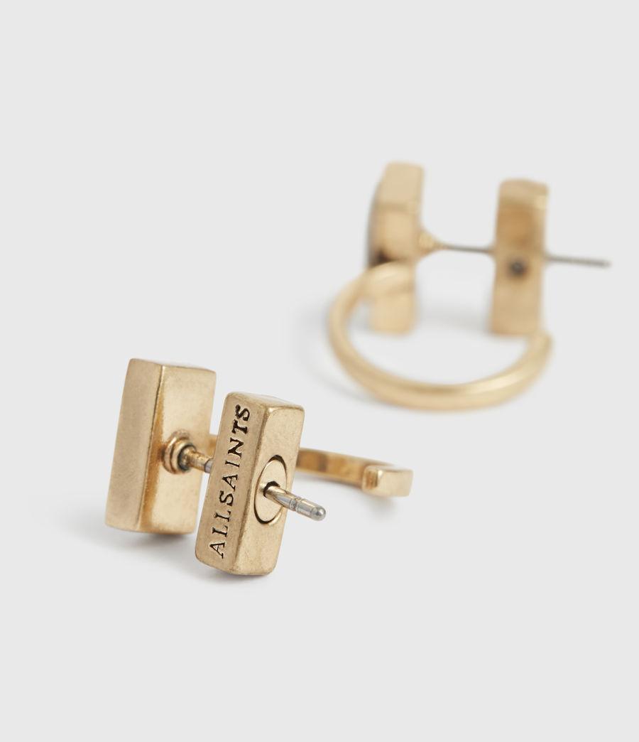 Womens Noa Gold-Tone Hoop Earrings (warm_brass) - Image 3