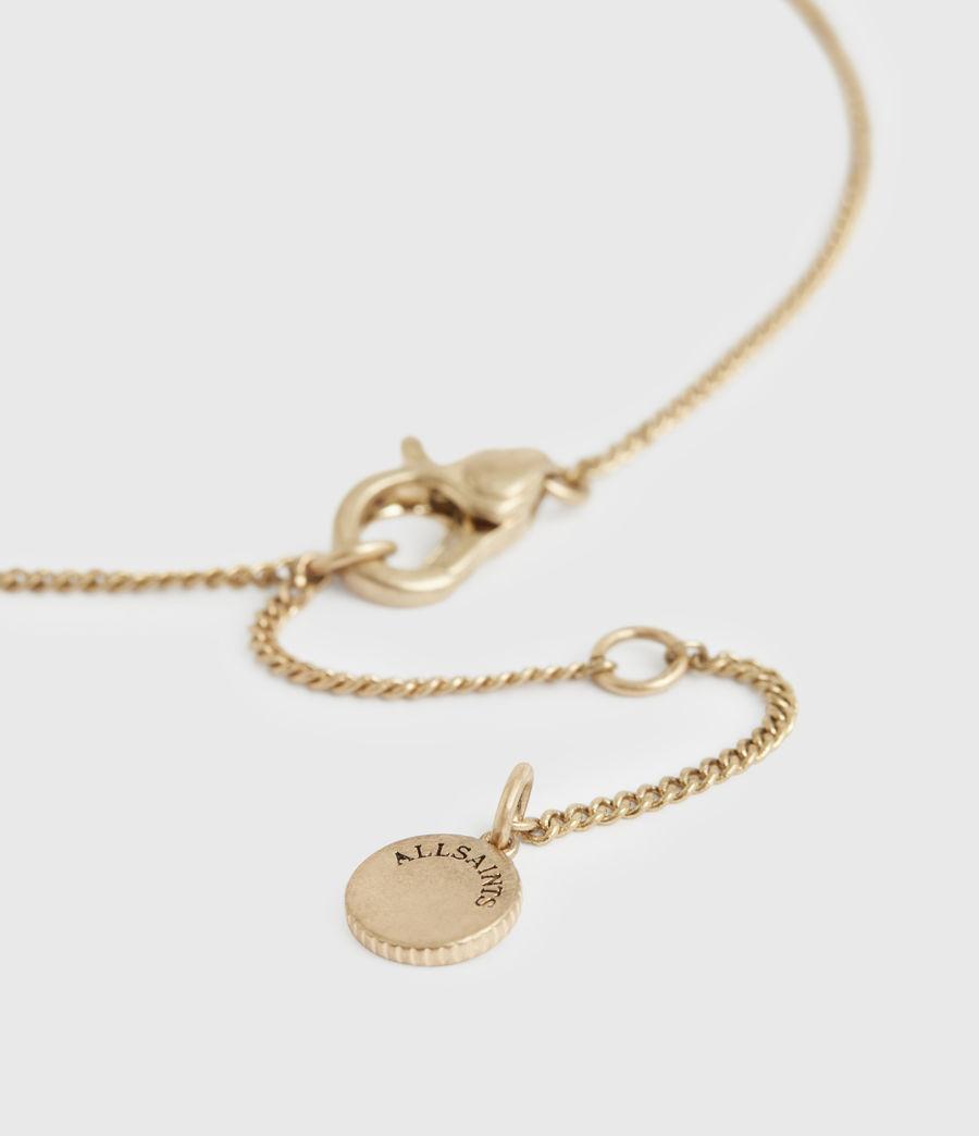 Women's Horn Gold-Tone Saint Pendant Necklace (warm_brass) - Image 5