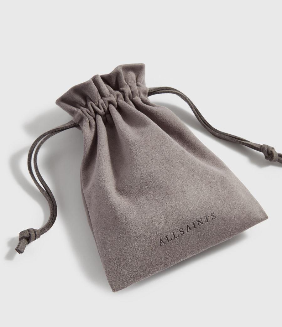 Womens Pallas Leather Cuff Bracelet (black_warm_brass) - Image 5