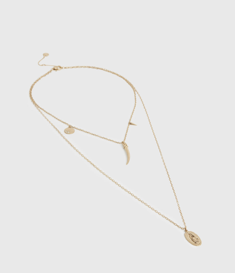 Women's Charms Gold-Tone Pendant Necklace (warm_brass) - Image 3