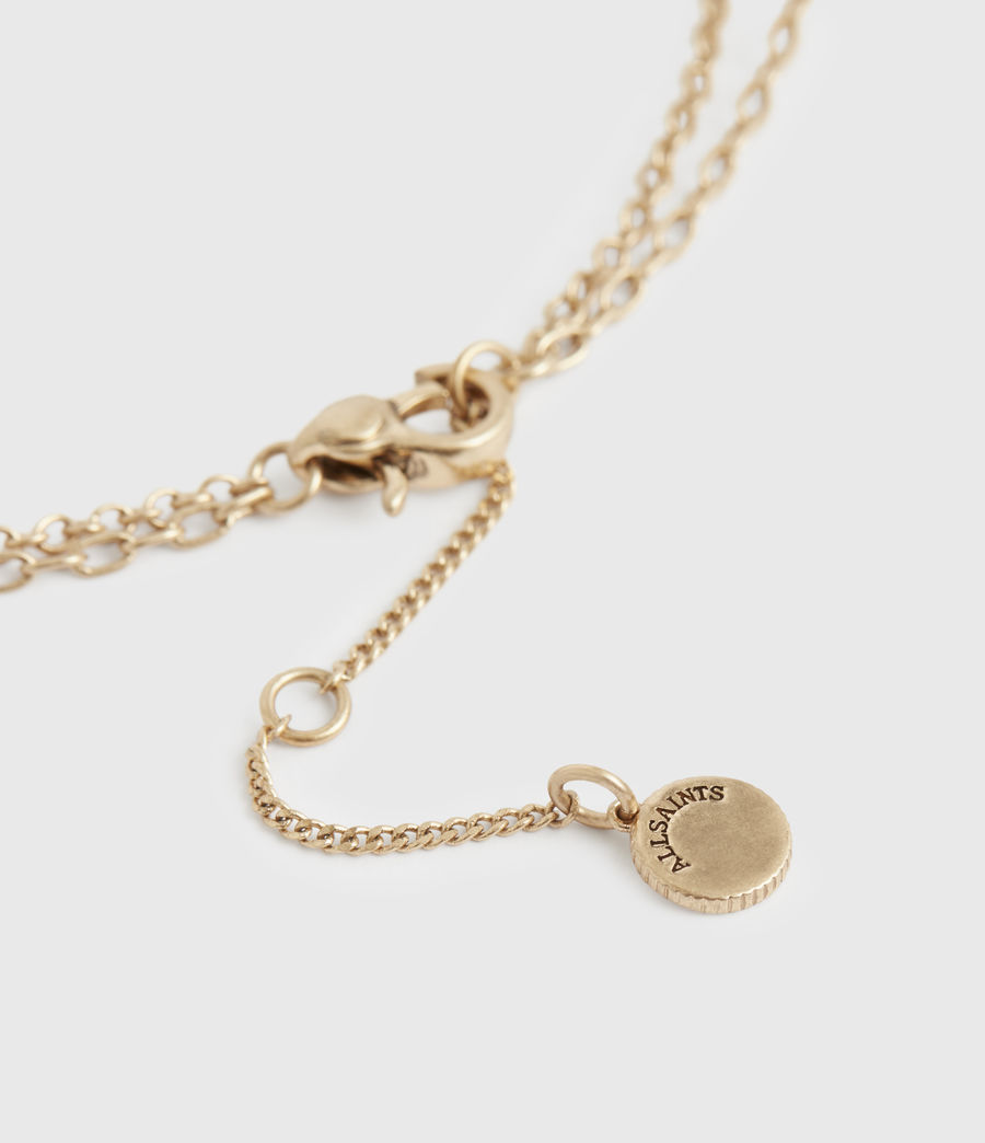Women's Charms Gold-Tone Pendant Necklace (warm_brass) - Image 5