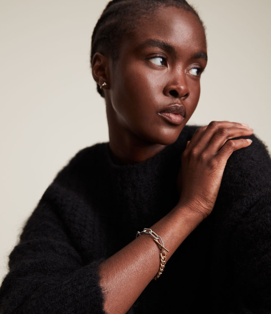 Women's Eliana Bracelet (warm_brass_silver) - Image 2