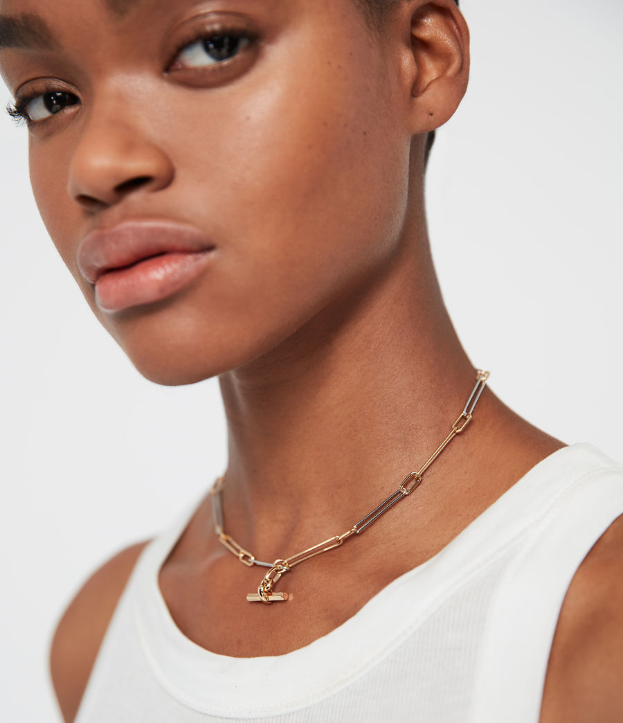 Women's Mia Two-Tone Necklace (gold) - Image 1