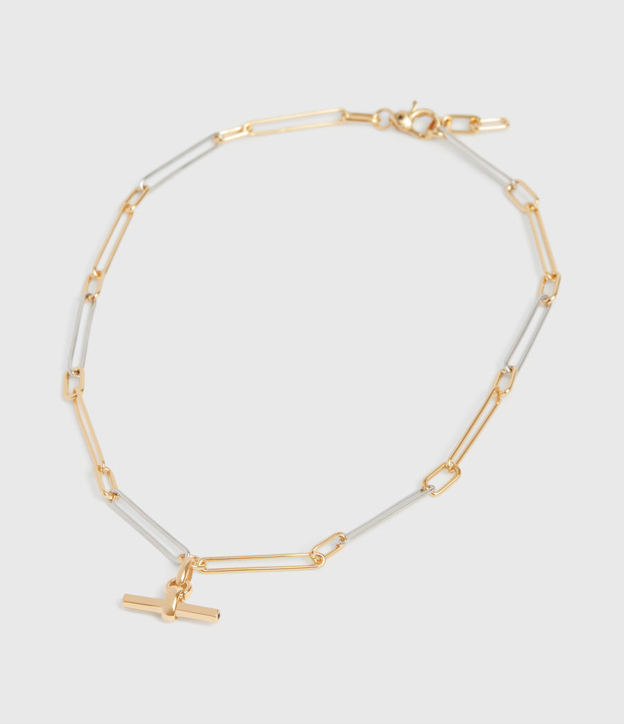 Women's Mia Two-Tone Necklace (gold) - Image 2