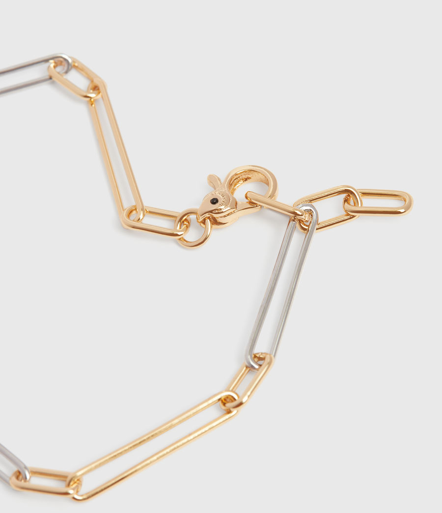 Women's Mia Two-Tone Necklace (gold) - Image 5