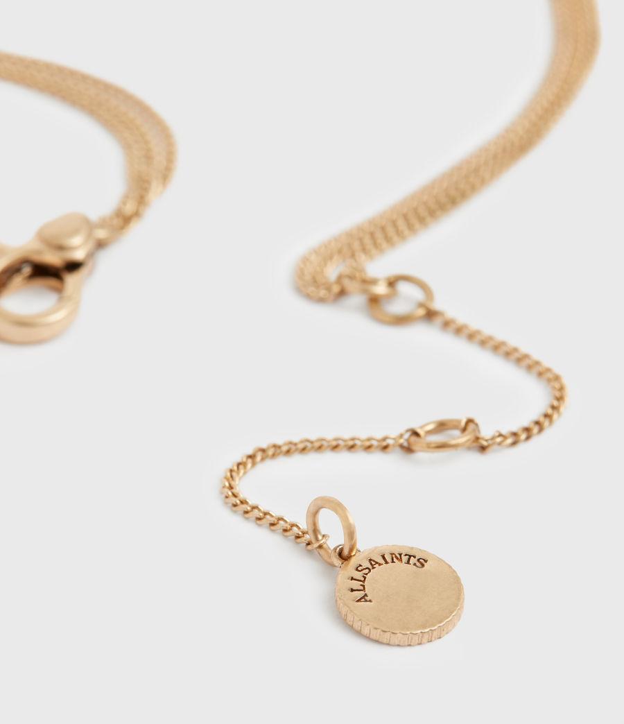 Women's Triple Gold-Tone Pendant Layered Necklace (black_warm_brass) - Image 5