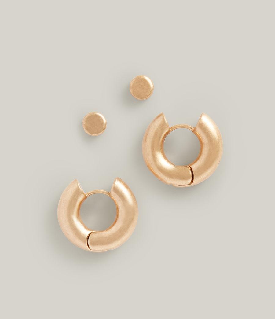Women's Iria Stud Earrings (warm_brass) - Image 2