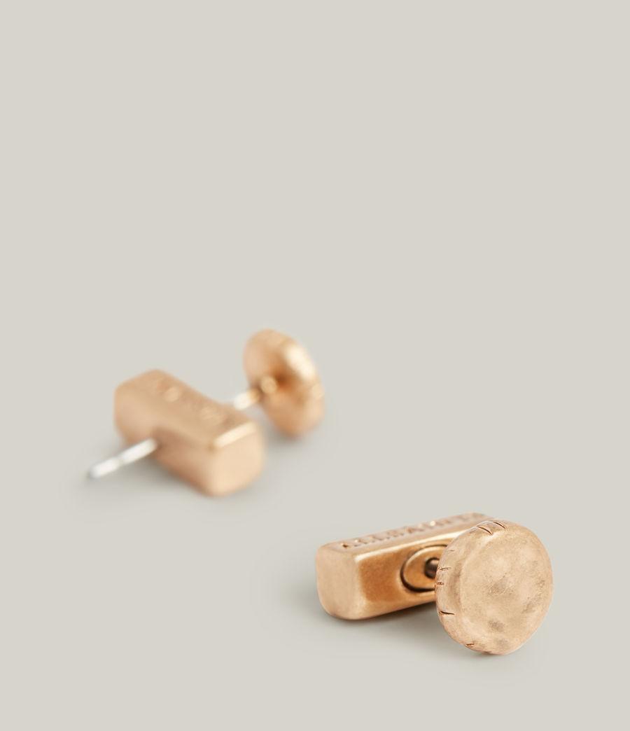Women's Iria Stud Earrings (warm_brass) - Image 4