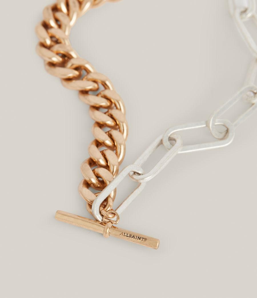 Women's Nara Necklace (warm_brass_silver) - Image 1