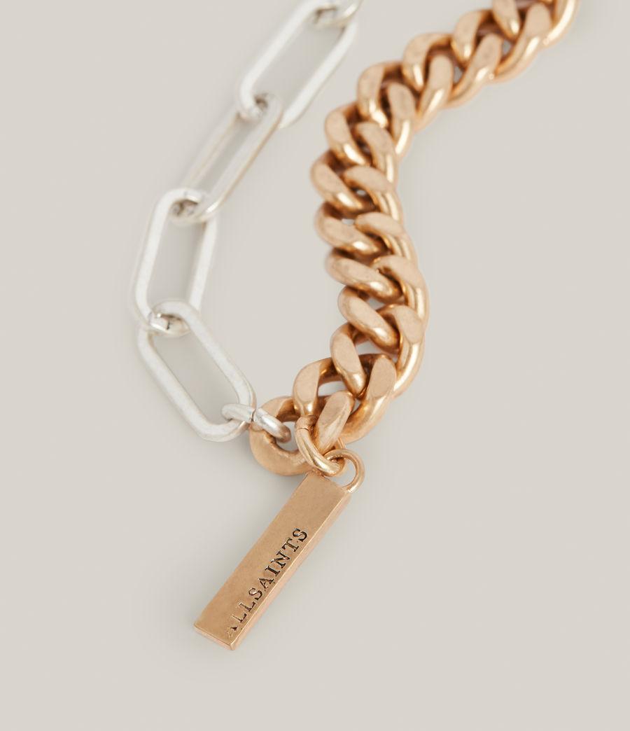 Women's Nara Necklace (warm_brass_silver) - Image 3