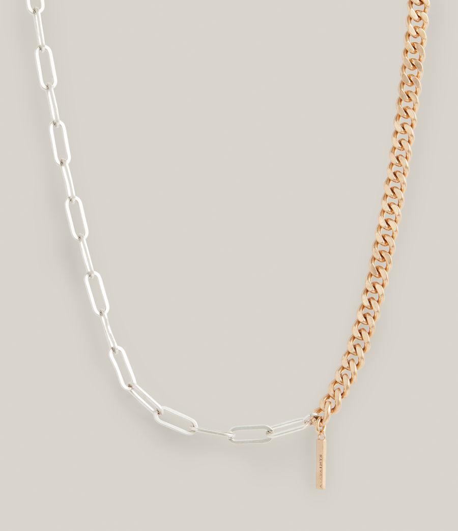 Women's Nara Necklace (warm_brass_silver) - Image 4