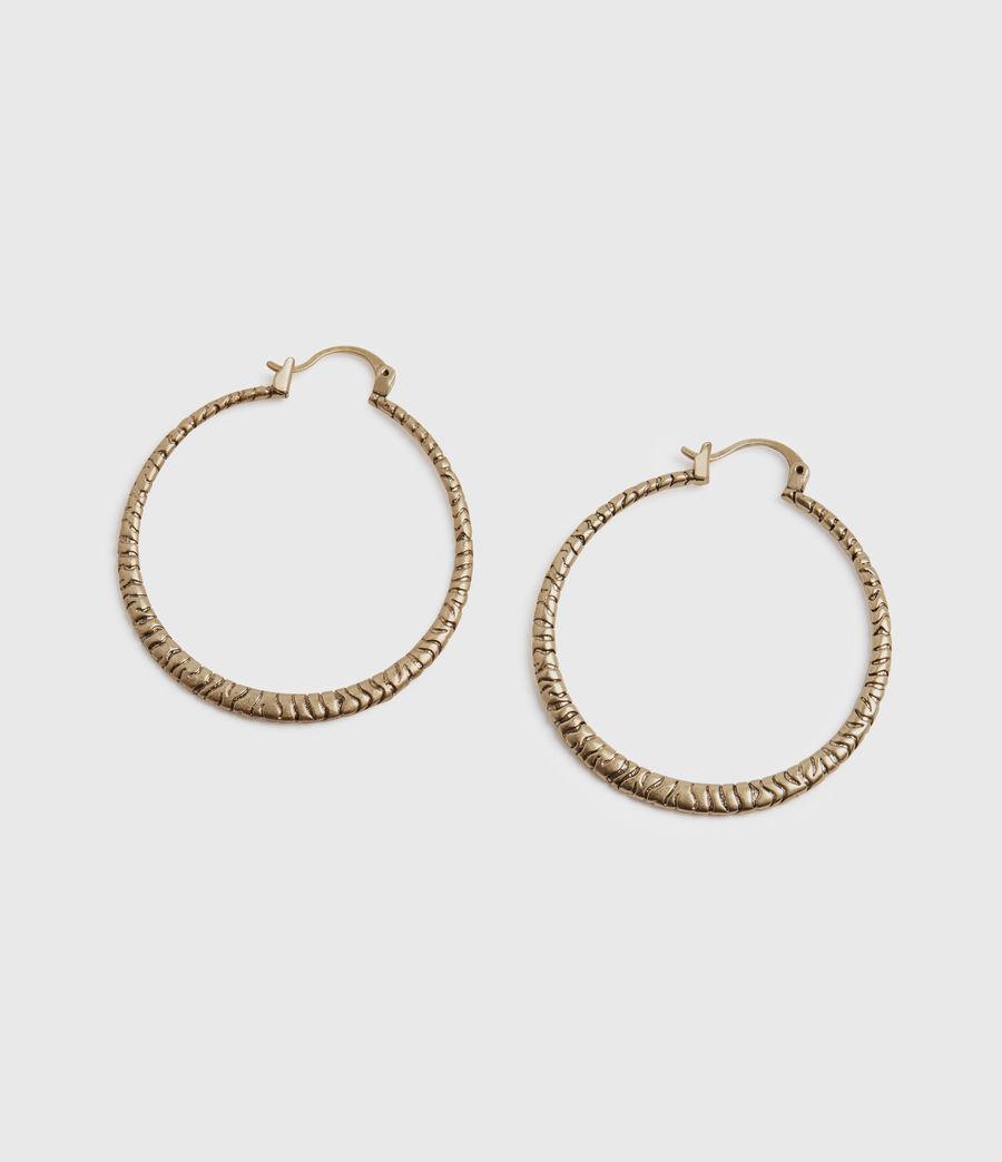 Womens Horn Gold-Tone Hoop Earrings (warm_brass) - Image 3