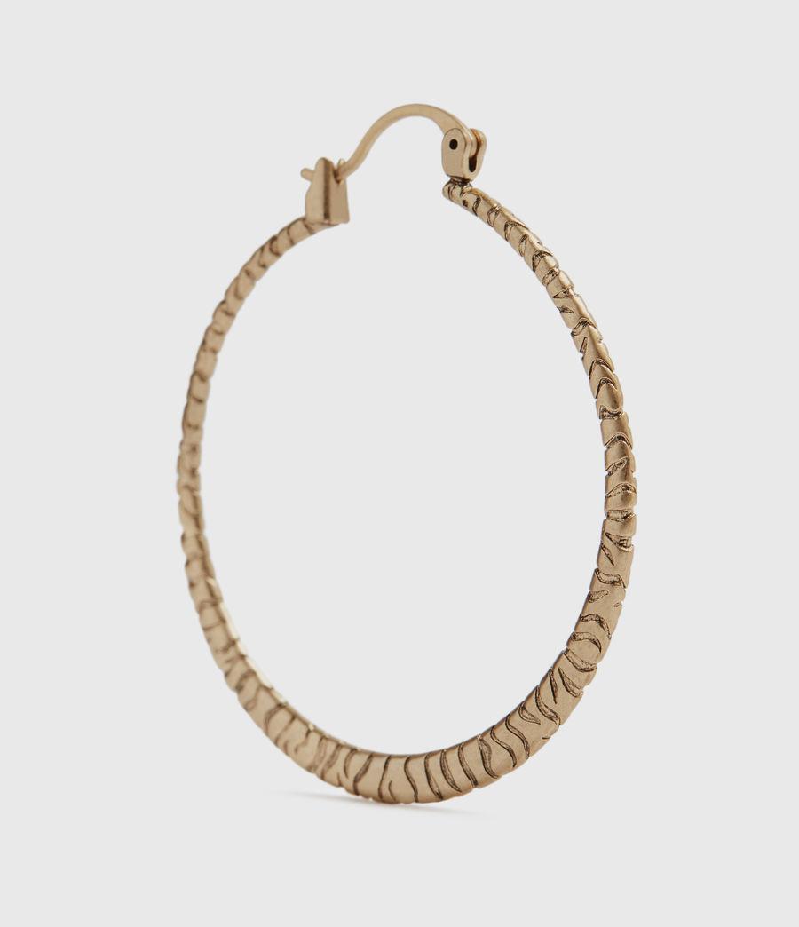Womens Horn Gold-Tone Hoop Earrings (warm_brass) - Image 4