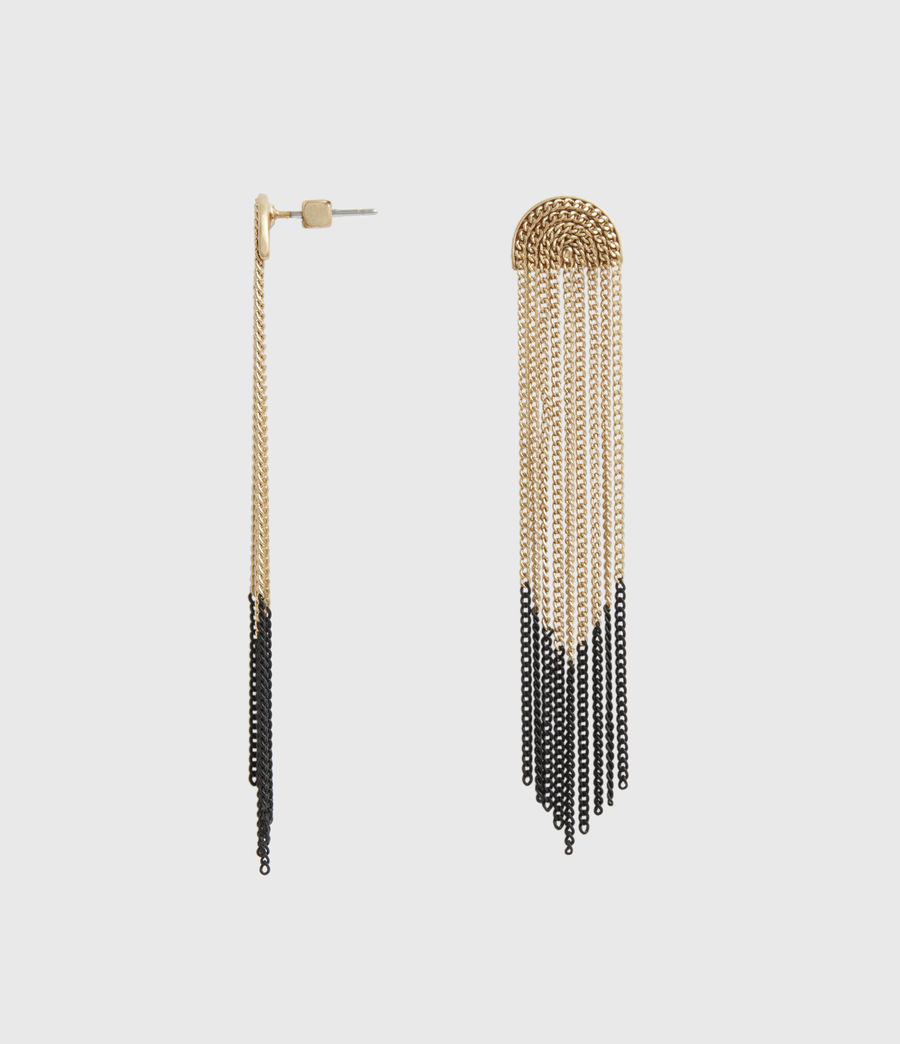 Womens Electra Gold-Tone Drop Earrings (black_warm_brass) - Image 2