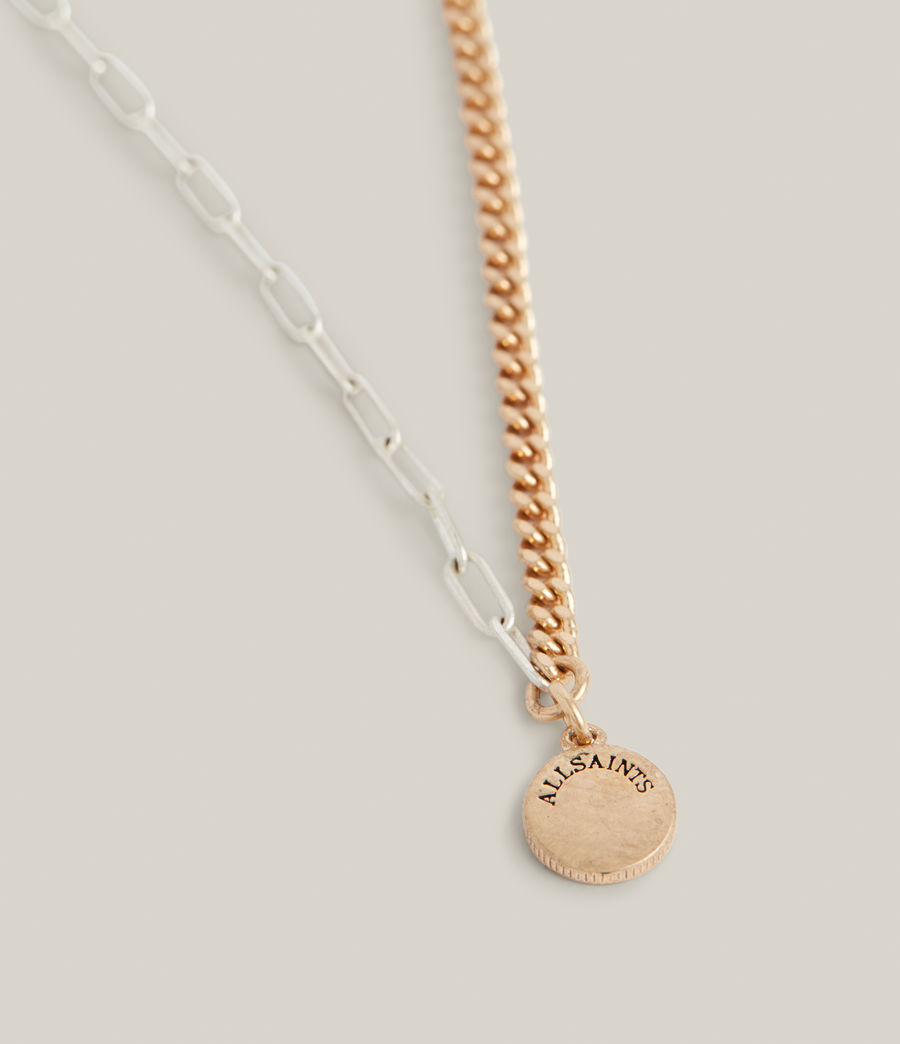 Women's Edie Two-Tone Necklace (warm_brass_silver) - Image 1
