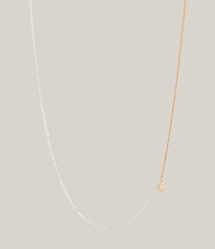 Women's Edie Two-Tone Necklace (warm_brass_silver) - Image 4