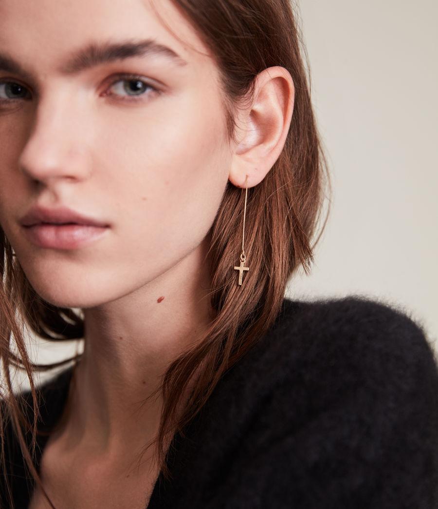 Women's Aida Cross Earrings (warm_brass) - Image 1