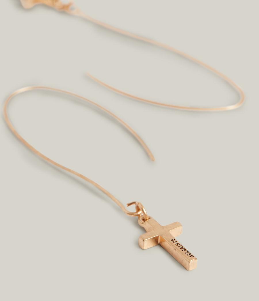 Women's Aida Cross Earrings (warm_brass) - Image 2