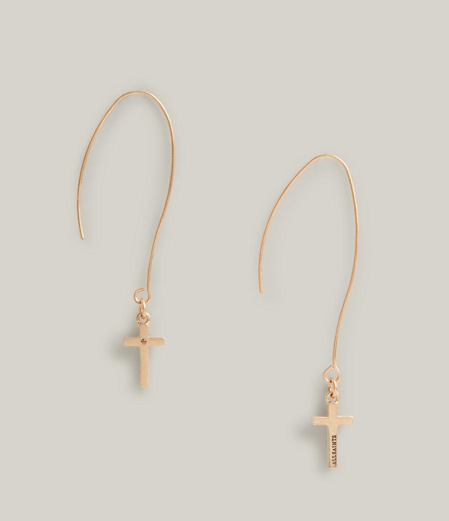Women's Aida Cross Earrings (warm_brass) - Image 3