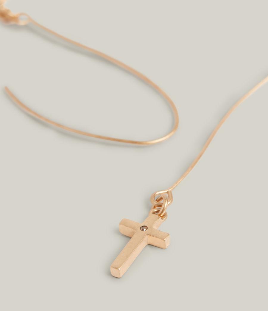 Women's Aida Cross Earrings (warm_brass) - Image 4
