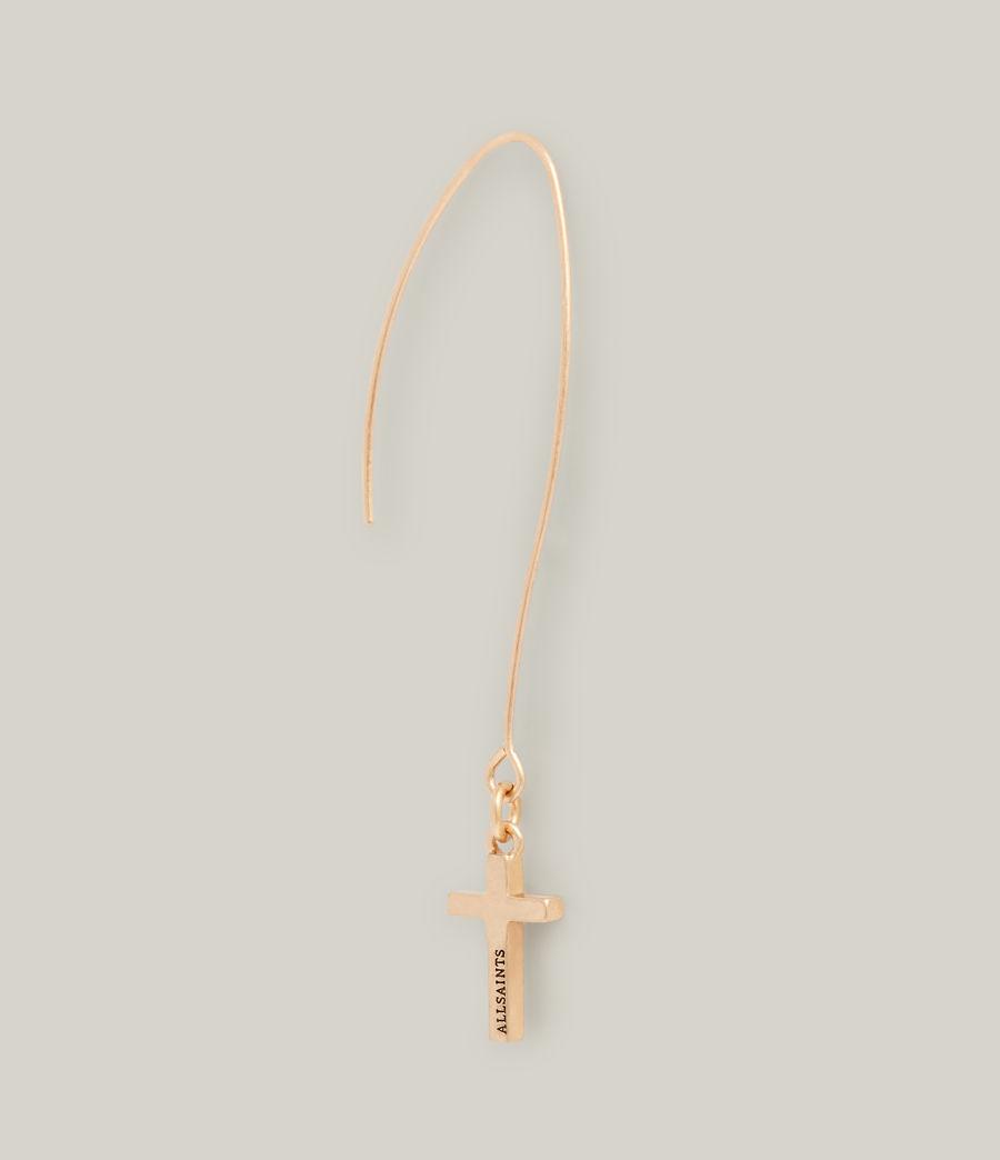 Women's Aida Cross Earrings (warm_brass) - Image 5