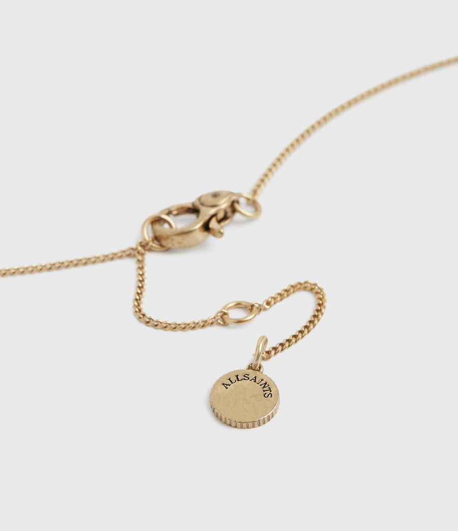 Womens Astrid Gold-Tone Necklace (warm_brass) - Image 4