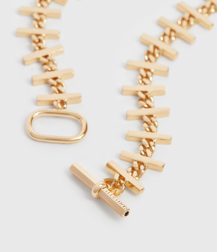 Womens Camila Gold Tone Semi-Precious Crystal Quartz Necklace (gold) - Image 1