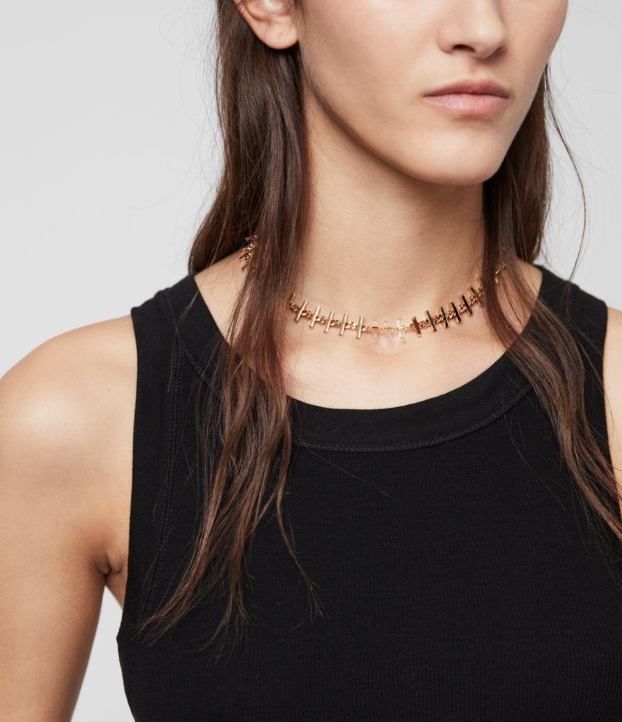 Womens Camila Gold Tone Semi-Precious Crystal Quartz Necklace (gold) - Image 2